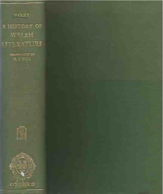 A History of Welsh Literature. thomas Parry.