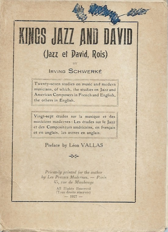 Kings Jazz and David__Jazz et David, Rois. Irving Schwerke.