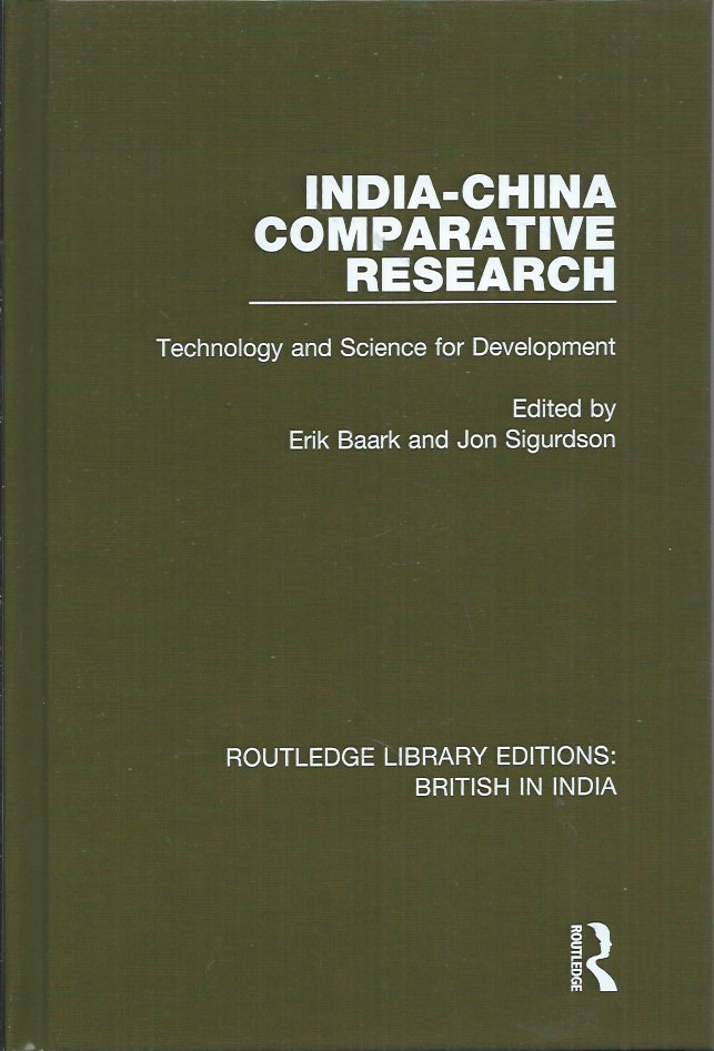 India-China Comparative Research. Erik Baark, Jon Sigurdson.