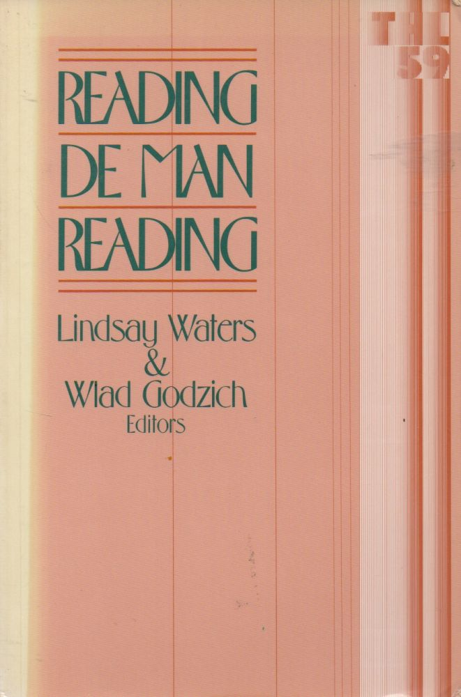 Reading de Man Reading. Lindsay Waters, Wlad Godzich.