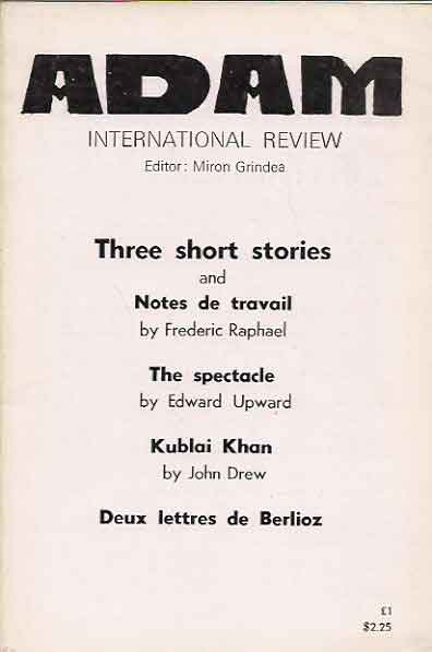 Adam International Review__6 issues for sale separately Nos. (443-445) (437-439)(434-436)(419-421)(416-418)(407-409) from 1978 -79. Miron Grindea.