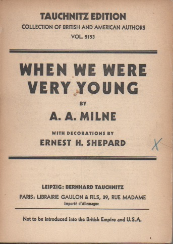 When We Were Very Young__with decorations by Ernest H. Shephard. A. A. Milne.