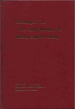 Proceedings of the Annual Meeting of the Berkeley Linguistics Society__Meetings 1 through 9 in 9...