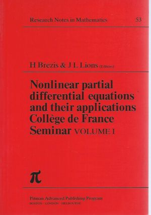Nonlinear Partial Differential Equations and their Applications (Collège de France Seminar),...