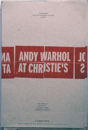 Andy Warhol at Christie's, 3 Volumes__Photographs, Paintings and Works on Paper, Prints