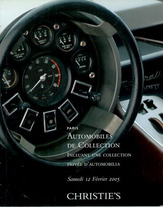 Automobiles de Collection__Incluant une collection privee d'automobilia. Christie's