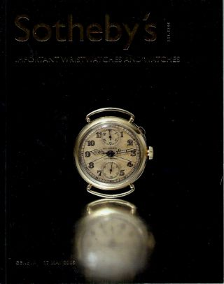 Important Wristwatches and Watches. Sotheby's