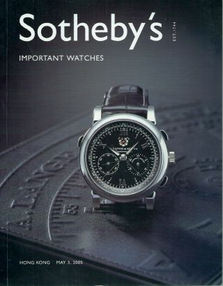 Important Watches. Sotheby's
