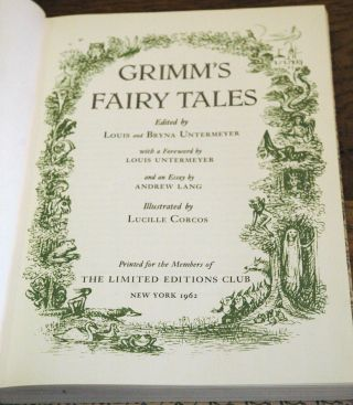 Grimm's Fairy Tales__The Complete Household Tales in Four Volumes