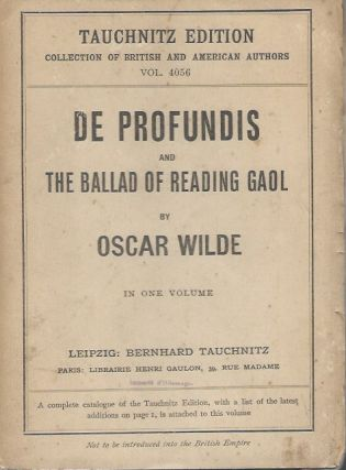 De Profundis and The Ballad of Reading Gaol. Oscar Wilde.