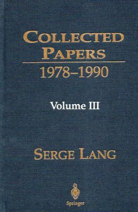 Collected Papers_ 1978-1990_ Volume 3. Serge Lang