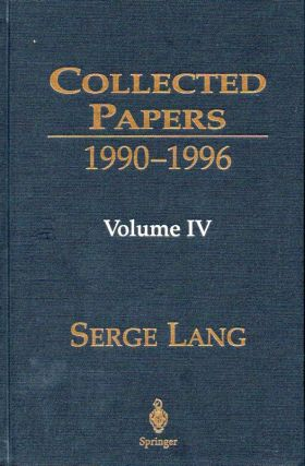 Collected Papers_1990-1996_ Volume 4. Serge Lang