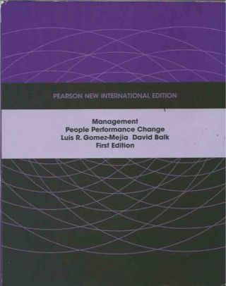 Management__People Performance Change__First Edition__New International Edition. Luis R....