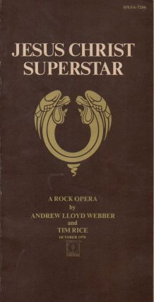 Jesus Christ Superstar _ A Rock Opera. Andrew Lloyd Webber, Tim Rice